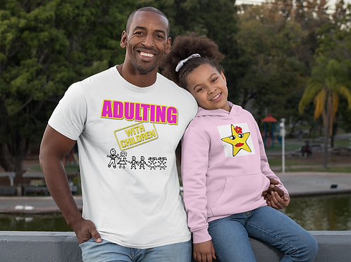 **Personalize Me** Adulting with CHILDREN Cotton Tee