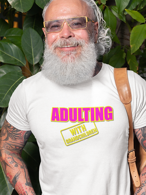 Adulting with GRANDCHILDREN Cotton Tee