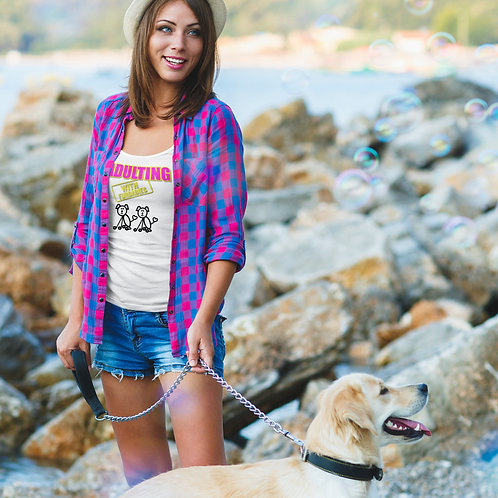 **I'm Personalizable ** Adulting with FURBABIES Jersey Tank