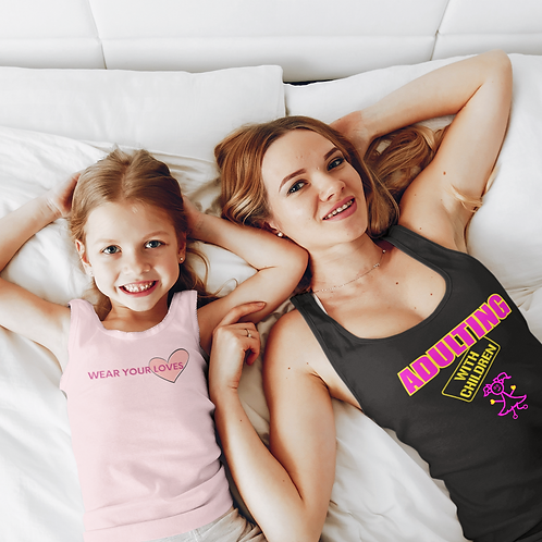 **Personalize Me** Adulting with Children Jersey Tank