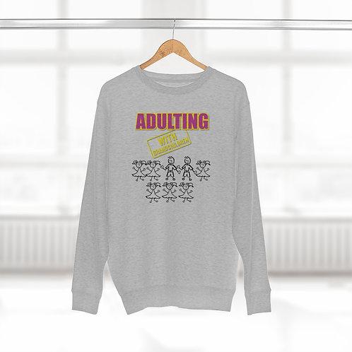 **Personalize Me** Adulting with GRANDCHILDREN -  Crewneck Sweatshirt