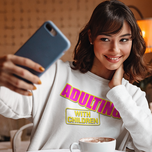 Adulting with Children - Crewneck Sweatshirt