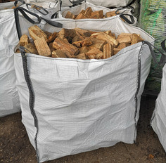 A Bulk Bag Of Hardwoood Logs