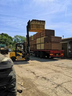 Unloading A Grange Fencing Delivery