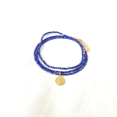 Lapiz Lazuli choker and bracelet