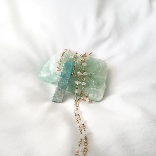 Amazonite and Moonstone Necklace