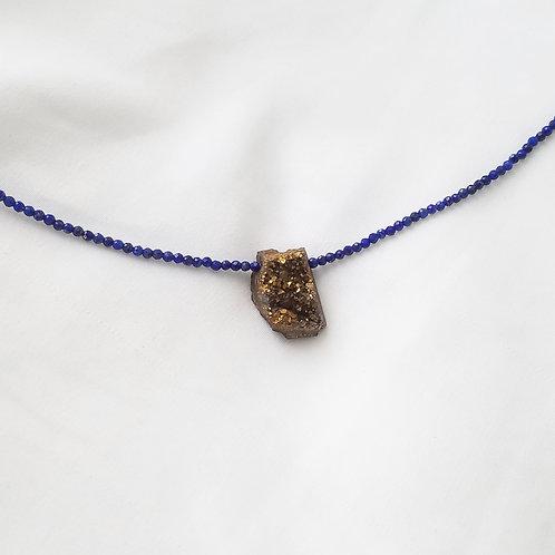 Lapis Lazuli  druzy choker