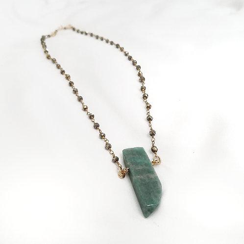 Amazonite & Pyrite Necklace