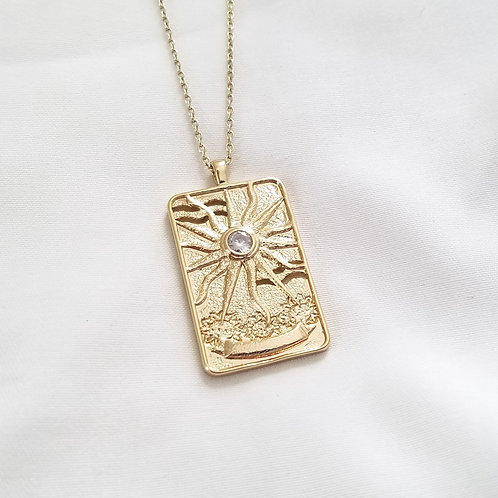 Sun Tarot Card Necklace