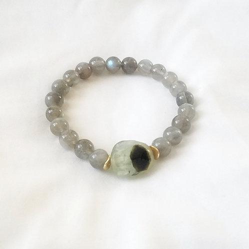 Prehnite & Labradorite bracelet