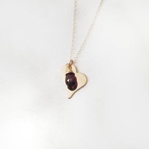 The Garnet Heart Necklace