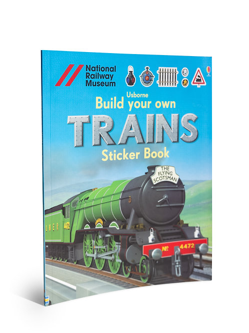 Kids Book: Build your own Trains Sticker Book