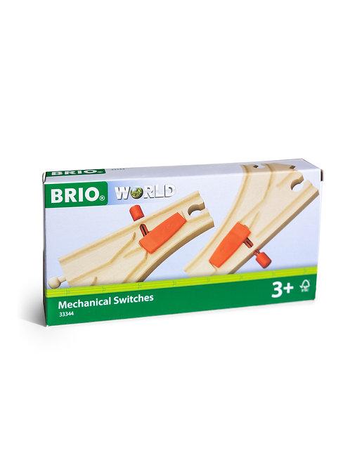 BRIO Tracks - Mechanical Switches, 2 pieces