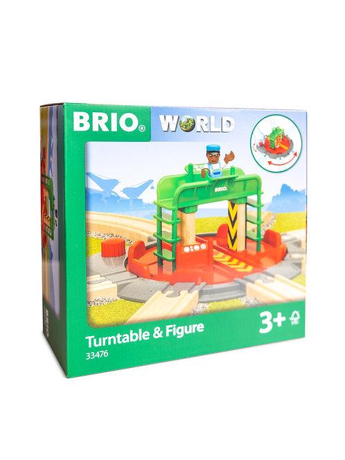 BRIO Tracks - Turntable & Figure 2 pieces