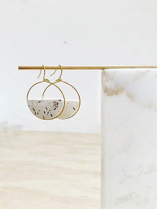 Anemone Hoop Earring