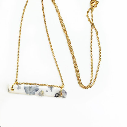 Rectangle Floral Necklace