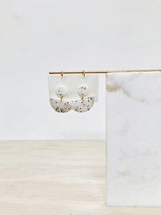 Anemone Half Moon Earring