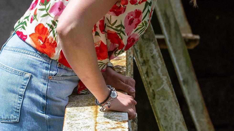 Leather Bracelet - Large Setting