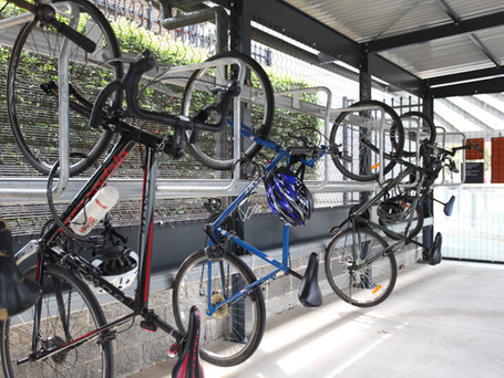 Solar Opal integrated train station bike shed