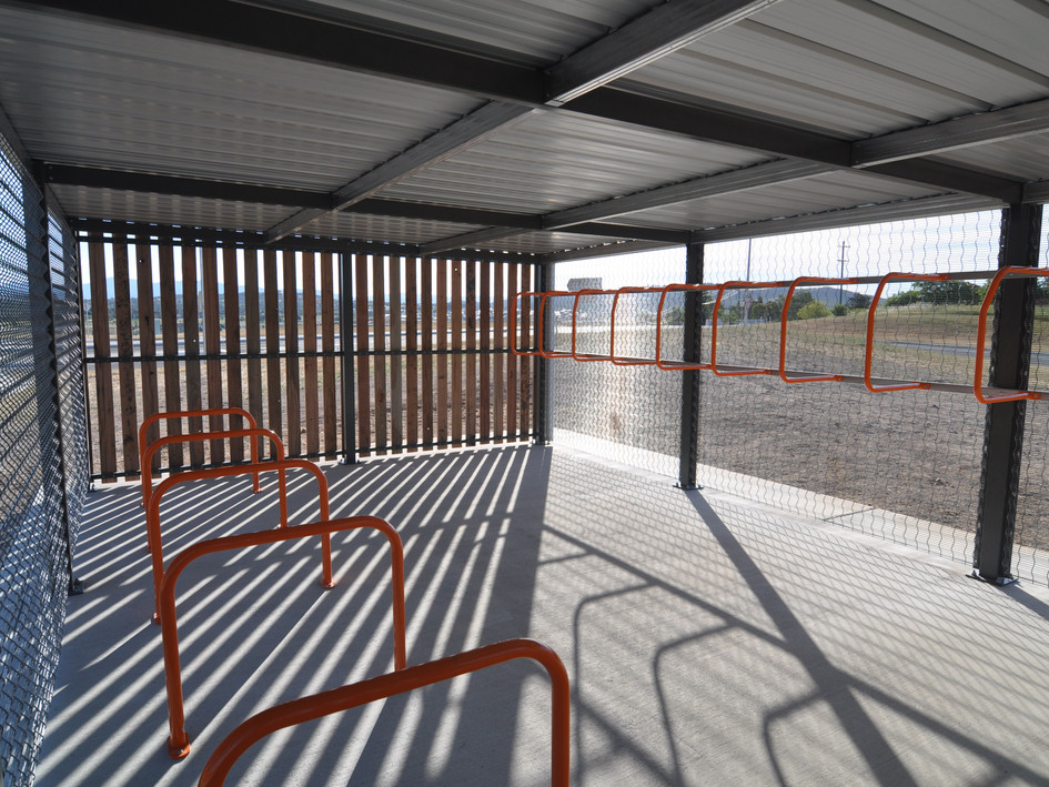 Internal bike shed Park and Ride