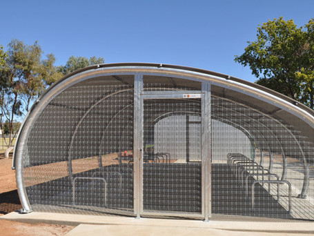 Alice Springs Primary School bike Shed