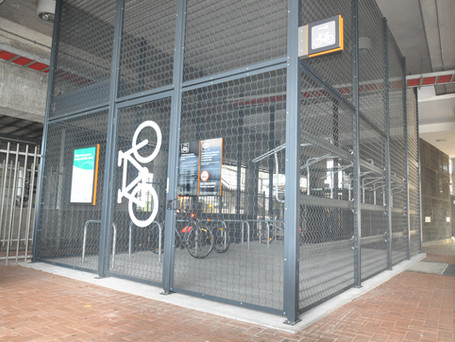 Liverpool station bike shed