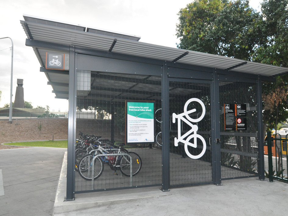 Blacktown bike shed - solar operated and Opal connected
