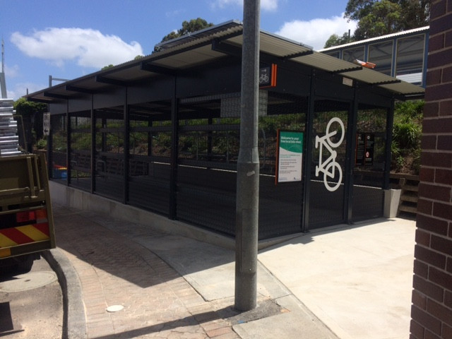 Cycle shed Gosford Train Station
