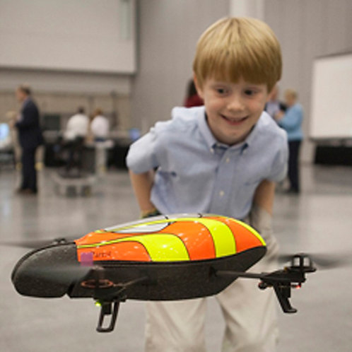 Pittsburgh kids in STEM Summer Camp Drone Flying 4 Children. Local science program for girls boys in elementary middle school