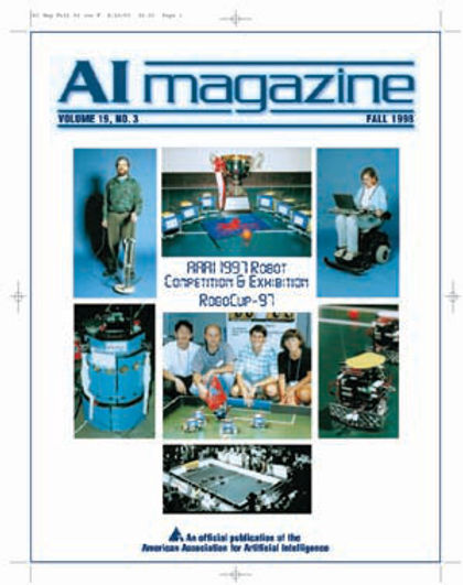 Sorin Achim On The Cover Of American Association For Artificial Intelligence AAAI Journal Publication Magazine Advancement