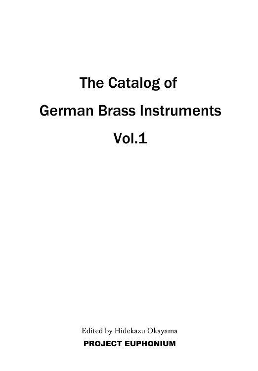 書籍 古いドイツの金管楽器カタログ - The Gatalog of German Brass Instruments Vol.1 BO33002