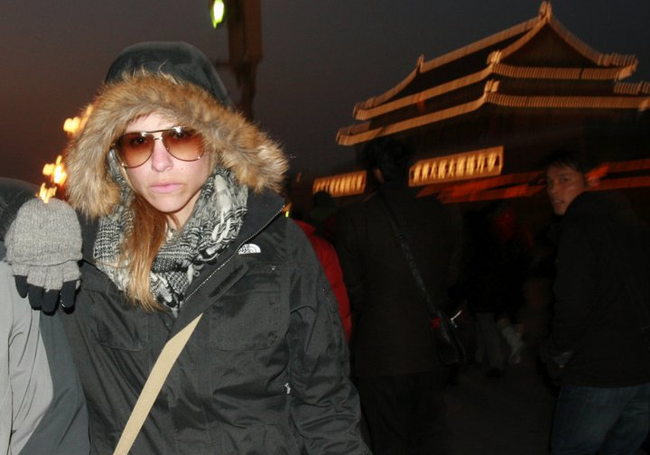 Bundled up in China