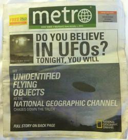 Metro News. Chasing UFOs