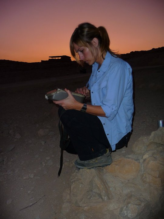 Working hard at Masada