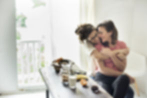 Female Couple at Home