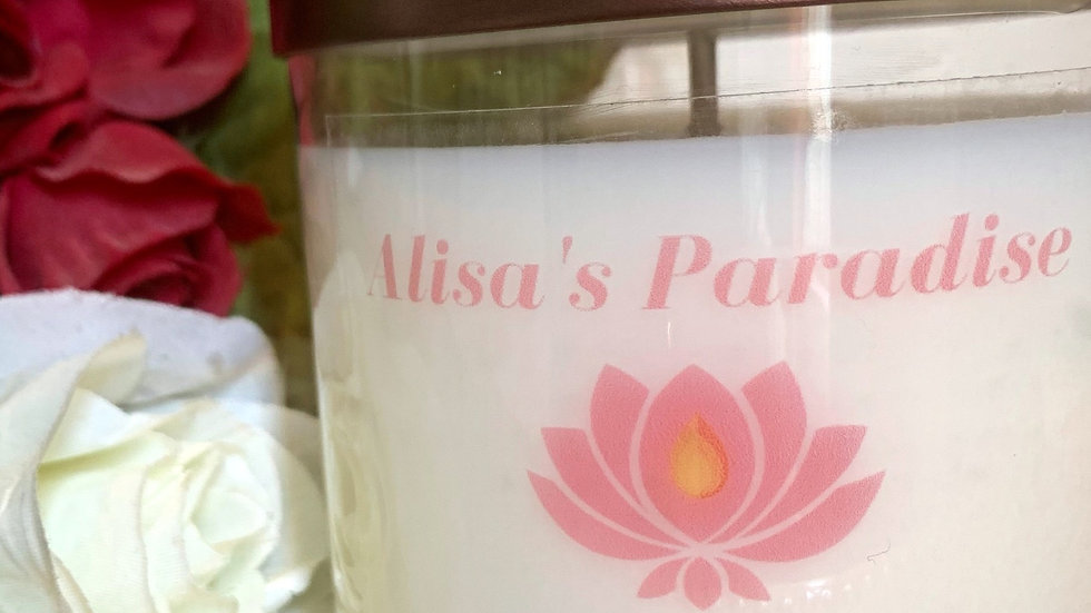 Alisa's Paradise Hand Poured Soy Wax Candle 9 oz