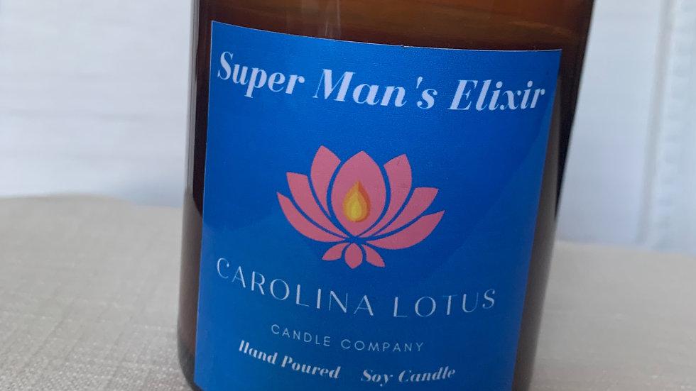 Super Man's Elixir Soy Wax Candle 9 oz