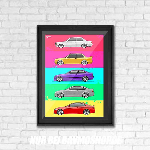 BMW 3ER COLLECTION POSTER XL | SPECIAL LIMITED EDITION