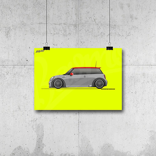 MINI JOHN COOPER WORKS R56 GREY POSTER XL | LIMITED EDITION