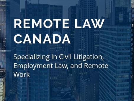 Remote Law Canada celebrates One-Year Anniversary!