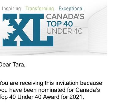 Tara Vasdani nominated for Canada's Top 40 under 40!