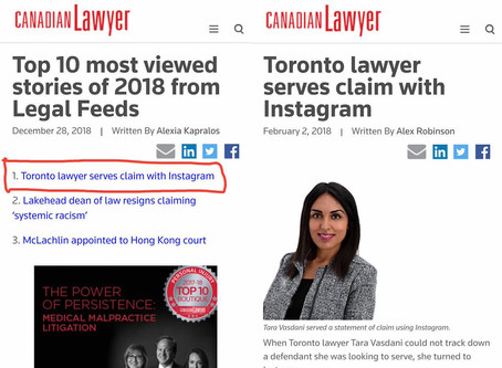 Instagram Service - Canadian Lawyer's #1 Most Viewed Article of 2018!