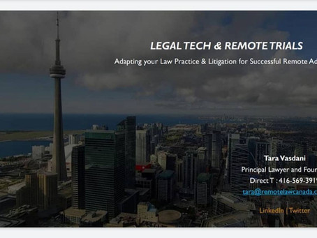 Tara presents to the Canadian Bar Association: Skilled Lawyers Series