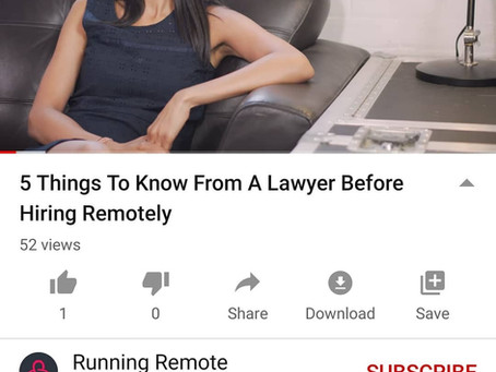 5 Things To Know From A Lawyer Before Hiring Remotely: Tara Vasdani speaks to Liam Martin