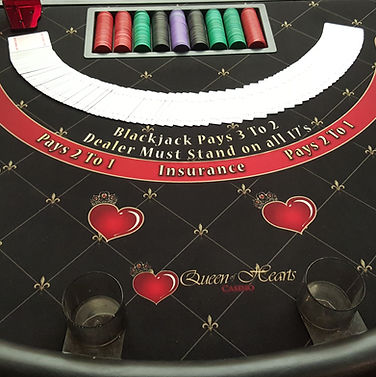 Photo of table top blackjack game