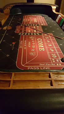 large professional styled craps table