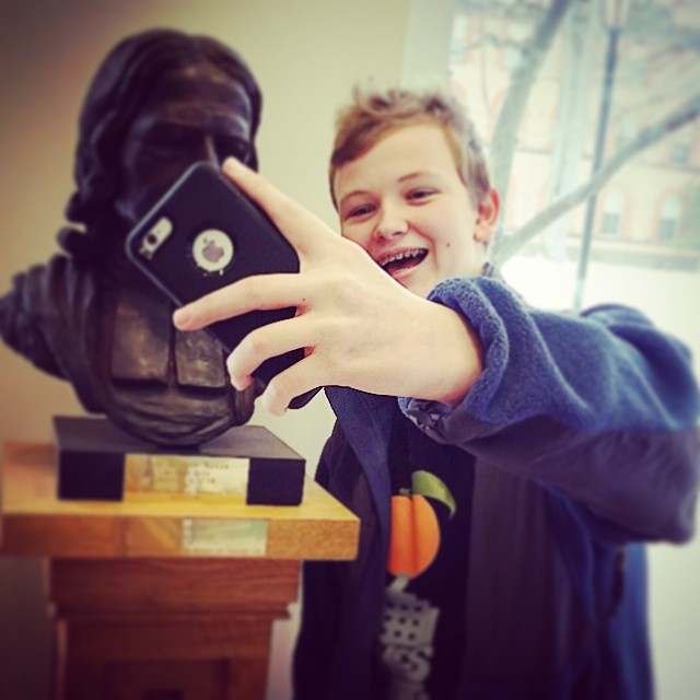 Selfies at the archives #wwjohnwesleyd