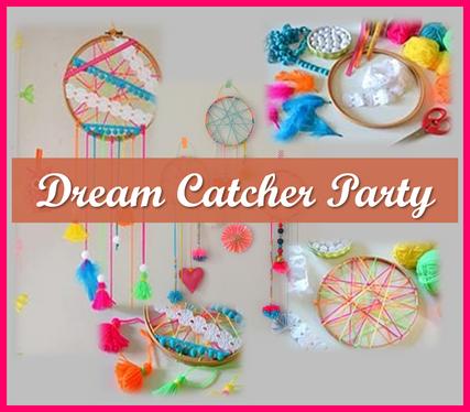 Make a colourful dream catcher