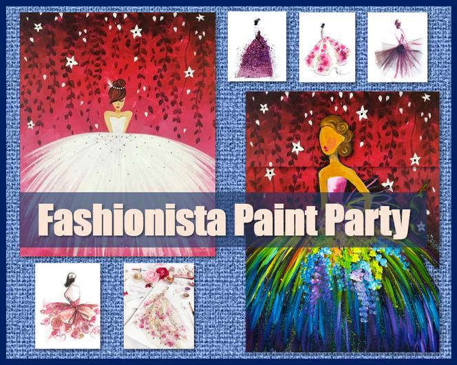 Fashionista party, design and paint your dress