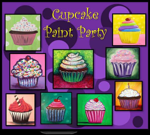 Paint a cupcake ..yummy!